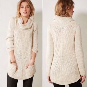GUINEVERE | Cabled Cowl Pullover Sweater